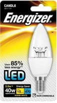 Energizer E14 Warm White Blister Pack Candle - 5.4w 470lm